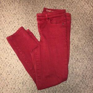 Gap 1969 Slim Straight Red Jeans